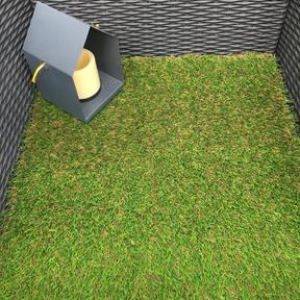 Artificial Grass Remnant Offcut Stafford 25mm Thick Tricolour 0.6m x 4m